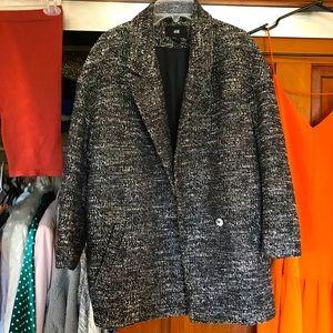 H&M tweed coat XS